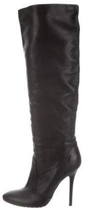 Giuseppe Zanotti Leather Knee-High Boots Black Leather Knee-High Boots
