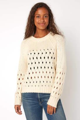 CRa En ̈Me En CrAme Chunky Open Knit Pullover