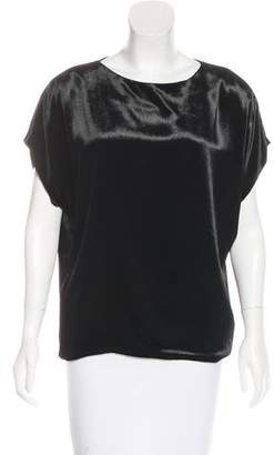 Christian Cota Velvet Short Sleeve Top
