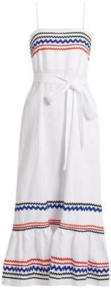 LISA MARIE FERNANDEZ Ric-rac trimmed linen slip dress $995 thestylecure.com