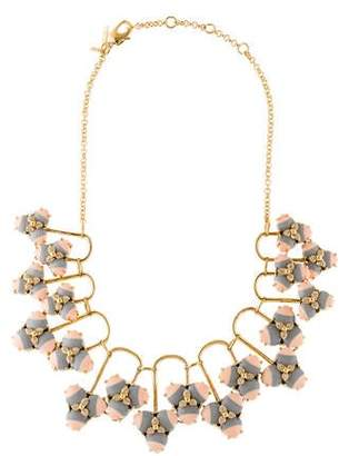 Lele Sadoughi Stone & Crystal Striped Orchid Necklace