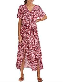 MinkPink Allegra Wrap Midi Dress