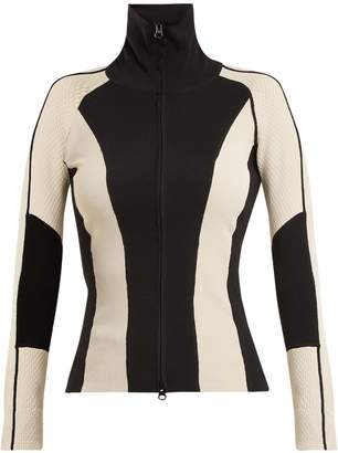 Laddie panelled zip-through track top