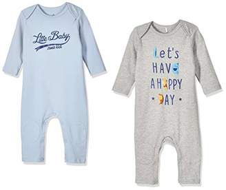 Zanie Kids Unisex Baby Long Sleeves Snap Bottoms Rompers Letters Print Cotton Jumpsuits