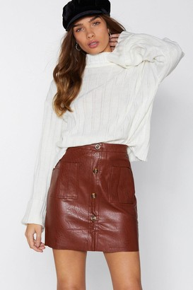 Nasty Gal Mini By Mini Faux Leather Skirt