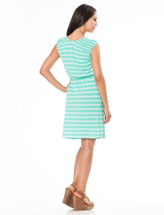 Motherhood Sleeveless Pull Down Mock Layer Nursing Dress