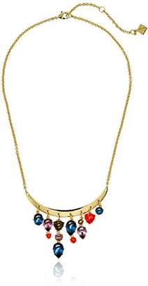 Nicole Miller Gypset Curve Bar Drops Gold Necklace