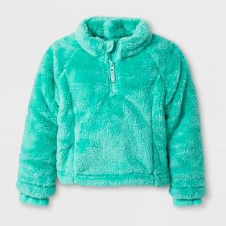 Cat & Jack Toddler Girls' Adaptive Fleece Jacket Green