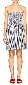 ATM Anthony Thomas Melillo Women's Striped Cotton Strapless Dress - White