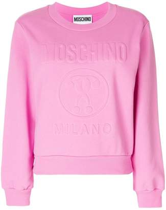 Moschino embossed sweatshirt