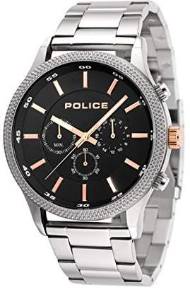 Police Mens Chronograph Quartz Watch with Stainless Steel Strap 15002JS/02M
