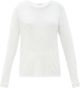 Frances De Lourdes - Marlon Round Neck Cashmere And Silk Blend T Shirt - Womens - Ivory