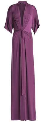 Raoul Issa Draped Stretch-Jersey Maxi Dress