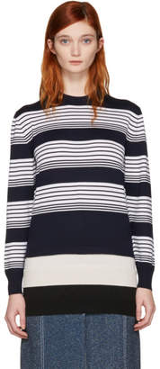 J.W.Anderson Navy Layered Pullover