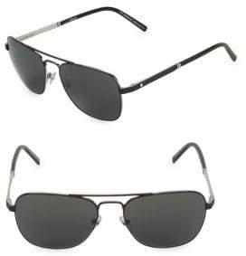 Montblanc 56MM Aviator Sunglasses