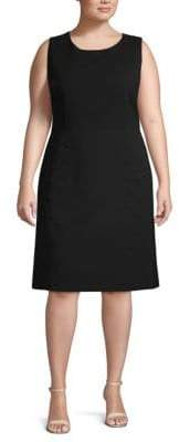 Lafayette 148 New York Plus Cheyenne Sleeveless Shift Dress