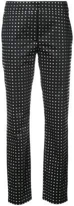 Moschino Swarovski crystal tailored trousers