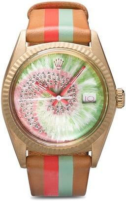 Rolex La Californienne multicoloured swirl diamond watch