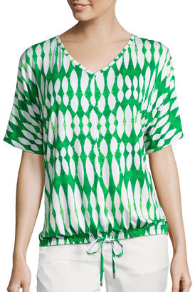 LIZ CLAIBORNE Liz Claiborne Dolman-Sleeve Drawstring Kaftan Tee - Tall $38 thestylecure.com