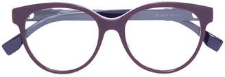 Fendi Eyewear studded round frame glasses