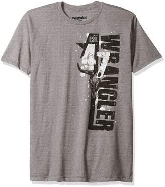 Wrangler Men's Short Sleeve Ribbed Collar Logo T-Shirt