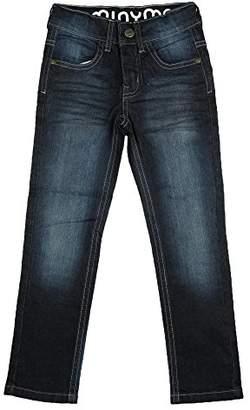 Minymo Baby Mädchen Jeans, Hoher Bund, Leichte Waschung, Alter 18-24 Monate, Größe: 92, Farbe: Dunkelblau, 3730