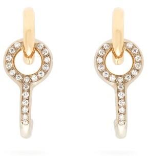 Charlotte Chesnais Fine Jewellery - Twin Diamond & 18kt Gold Earrings - Womens - Gold