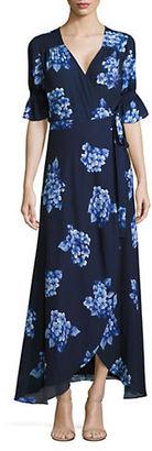 Imnyc Isaac Mizrahi Floral-Print Maxi Wrap Dress $129 thestylecure.com