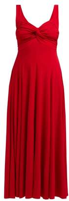 Norma Kamali Twist Front Jersey Dress - Womens - Red