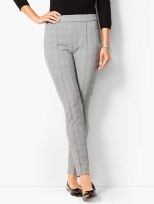 Talbots High Waist Bi-Stretch Skinny Ankle Pants - Check