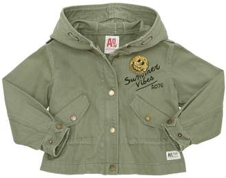 American Outfitters Hooded Cotton Gabardine Jacket