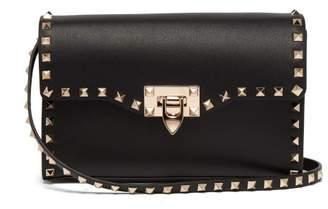 Valentino Rockstud Small Leather Cross Body Bag - Womens - Black