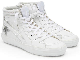 Golden Goose Crystal Slide High-Top Sneakers with Embellishment