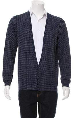 Fendi Knit Swiss Dot Cardigan