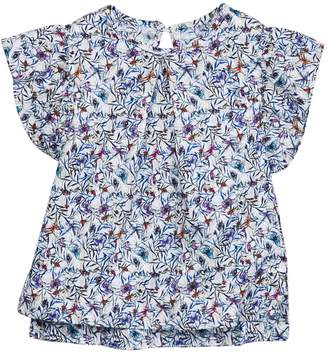 Frenchie Mini Couture Butterfly Ruffle Sleeve Tee (Baby, Toddler, Little Girls, & Big Girls)