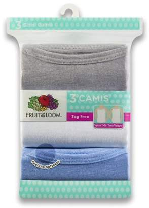 Fruit of the Loom Assorted Wear Two Ways Spin Camis, 3 Pack (Little Girls & Big Girls)