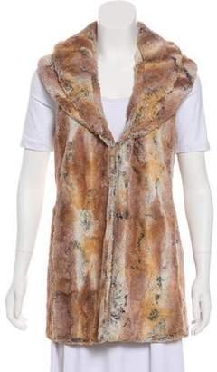 Alice + Olivia Long Fur Vest