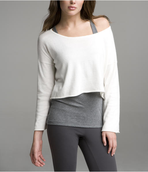 Cropped Crew Pullover Sweater