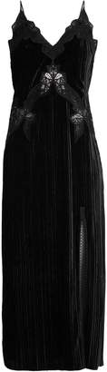 Jonathan Simkhai V-neck lace-trimmed velvet dress