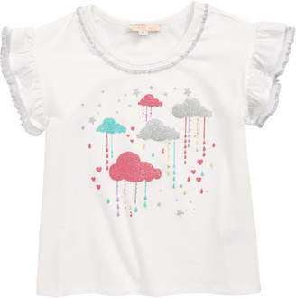 Truly Me Rainy Clouds Embellished Tee