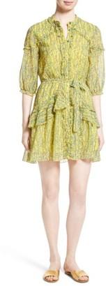 Women's Saloni Tilly Ruffle Silk Dress $425 thestylecure.com
