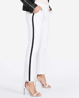 Express Mid Rise Side Stripe Columnist Ankle Pant