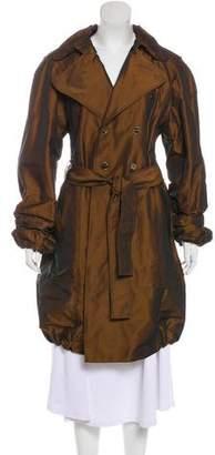 Dolce & Gabbana Metallic Trench Coat w/ Tags