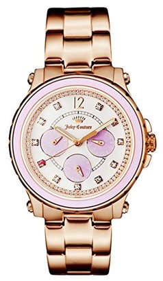 Juicy Couture Women's 1901383 Hollywood Analog Display Japanese Quartz Rose Gold-Tone Watch $265 thestylecure.com