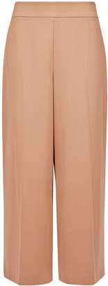 Dorothy Perkins Womens Camel Crop Wide Leg Trousers