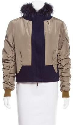 Pologeorgis Fur-Lined Bomber Jacket