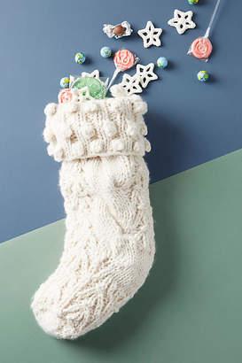 Anthropologie Irish Sweater Stocking