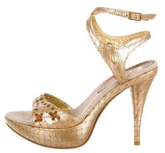 Just Cavalli Embellished Platform Sandals