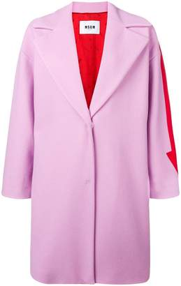 MSGM contrast arrow coat