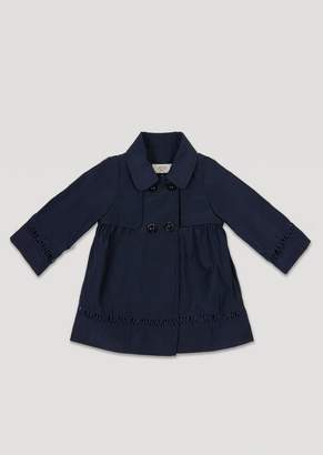 Armani Junior Duster Coat With Embroidered Logo